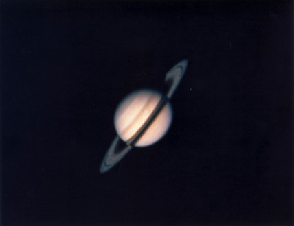 Planet Saturn, photographed by Voyager 1, 1980.
