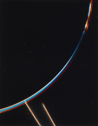 The rings of Jupiter, photographed by Voyager 2, 1979.