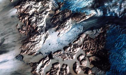 Landsat image of the Greenland Glacier, 1982.