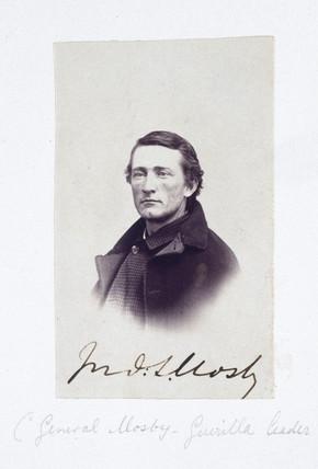 Portrait of General Mosby, Confederate guerrilla leader, c 1863.