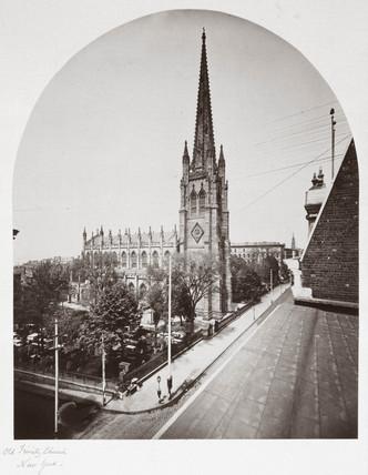 Old Trinity Church, New York City, New York, USA, c 1865.