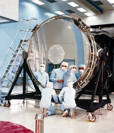 The Hubble Space Telescope's 94-inch mirror, 1984.