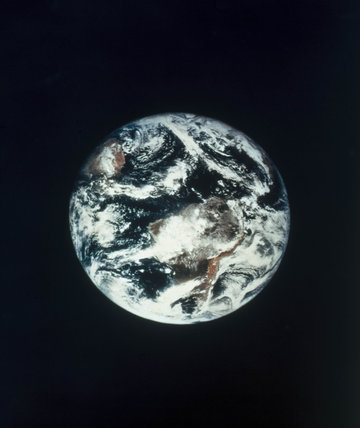 The Earth from space, 1967.