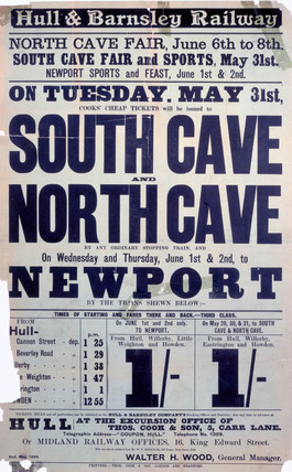 North Cave Fair railway poster, 1904.