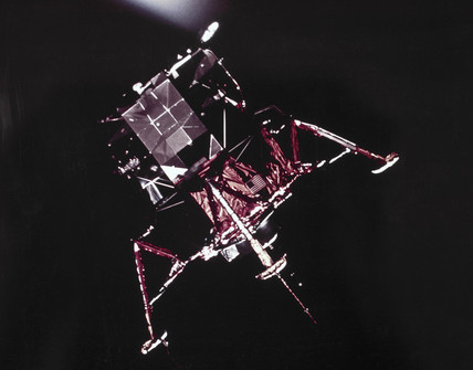 Apollo 9 Lunar Module in Earth orbit, 1969.