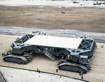 Crawler rocket transporter, 1967.