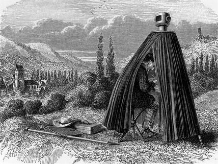 Tent camera obscura, 19th century.