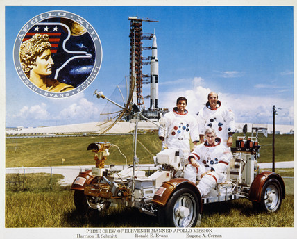 Crew of Apollo 17 mision, 1972.