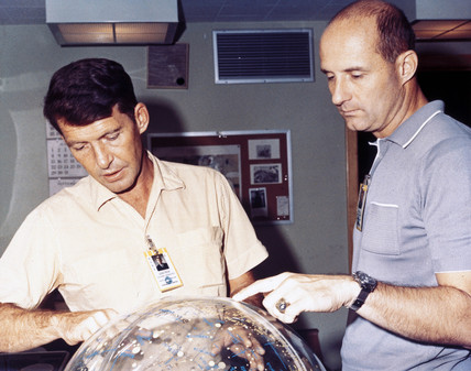 Gemini 6 astronauts Walter Schirra and Thomas Stafford, 1965.