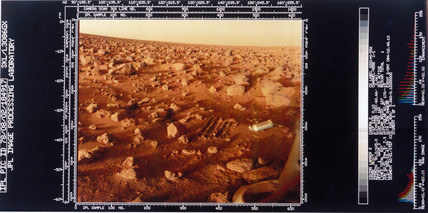 Close up of the Martian surface photographed by Viking 2, 1976.