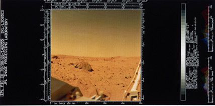 View of the Martian surface from Viking 1, 1976.