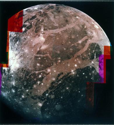 Ganymede, one of the moons of Jupiter, 1979.