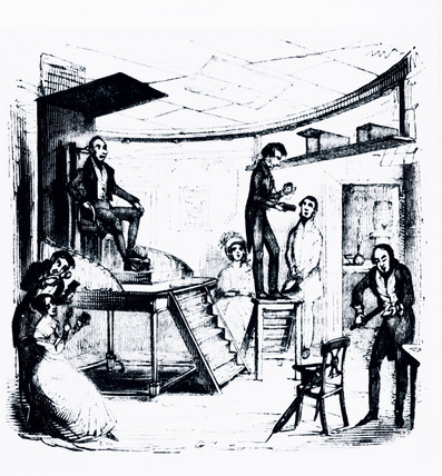 Richard Beard's daguerreotype studio, c 1841.