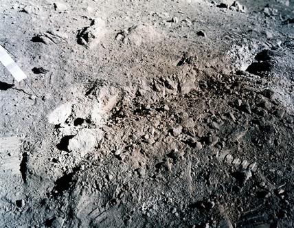 Orange soil on the moon, 1972.