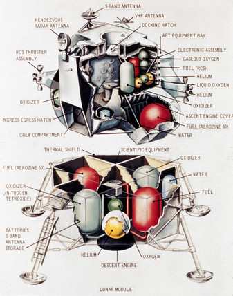 Lunar Excursion Module, 1968.