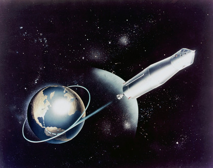Artist's impresion of an early Apollo mision concept, 1968.