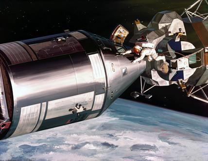 Artist's impresion of the Apollo Spacecraft, 1968.