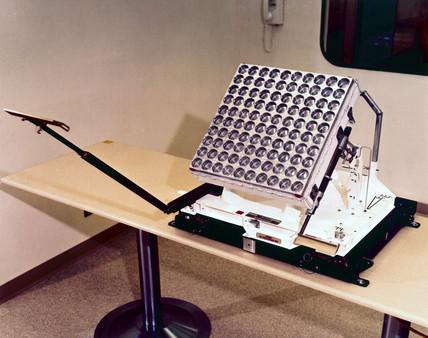 Laser retro-reflector, Apollo 11 experiment, 1969.