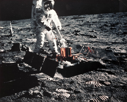 Apollo 11 astronaut, Edwin 'Buzz' Aldrin on the Moon, 1969.