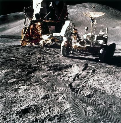 Apollo 15 astronaut James Irwin on the Moon, 1971.