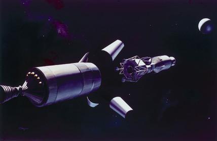Apollo Command and Lunar Modules, late 1960s.