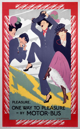 'Pleasure. One Way to Pleasure - By Motor-Bus', poster, 1921.