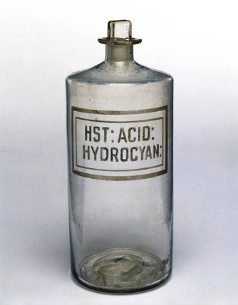 Bottle for hydrocyanic acid, late 19th century.