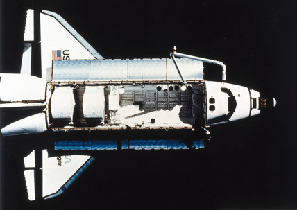 Space Shuttle Challenger in orbit, 1983. by NASA at ...