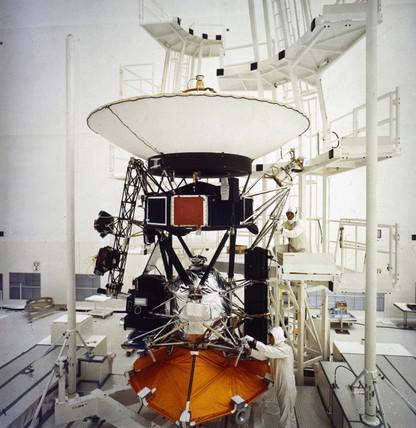 Voyager test model, 1977.