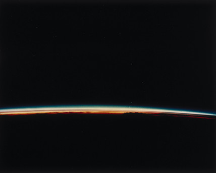 Sunset on Earth, viewed from the Space Shuttle, 1980s.
