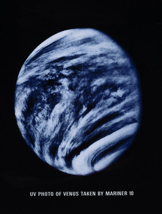 Clouds of Venus, photographed in ultra-violet light by Mariner 10, 1974.