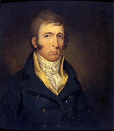 A gentleman, posibly George Stephenson, English railway engineer, c 1820.