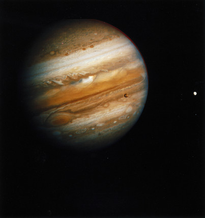 The planet Jupiter, photographed by Voyager 2, 1979.