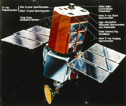 Solar Maximum Mision (SMM) satellite, 1980.
