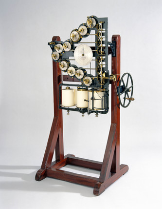 Kelvin's first tide predicting machine, 1872.