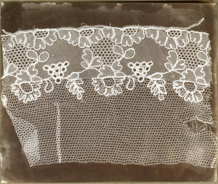 Lace sample, c 1842.