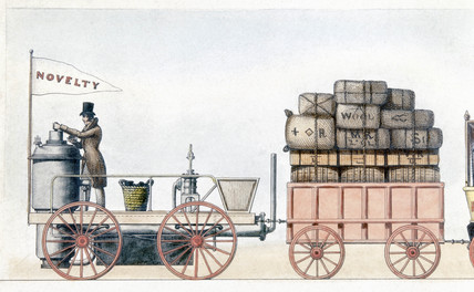 The 'Novelty' steam locomotive, c 1830.