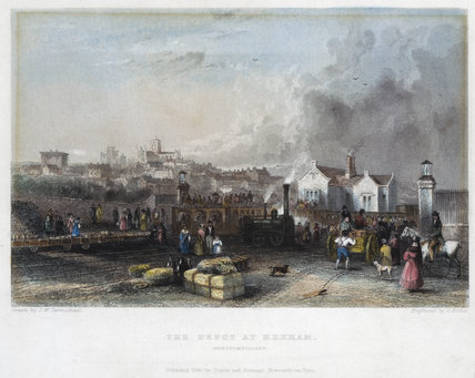 'The Depot at Hexham', Newcastle & Carlisle Railway, 1836.