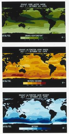 Three Seasat maps, 1978.