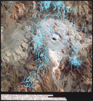 Landsat image of Argentina, 1972.