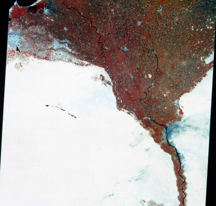 Landsat image of Egypt, 1973.