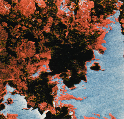Seasat image of sea ice, 1978.