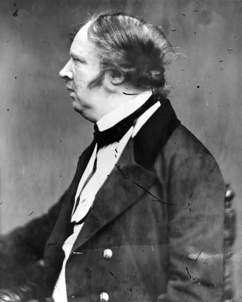 William Henry Fox Talbot, pioneer photographer, c 1850.