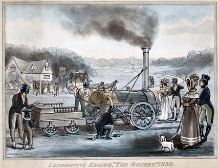 'Locomotive Engine, 'The Rocket', 1830.