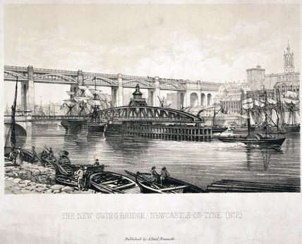 'The New Swing Bridge, Newcastle-on-Tyne (No 2)', c 1876.