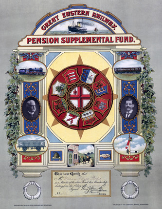 Railway pension supplemental fund certificate, 1905.