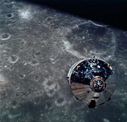 The Apollo 10 Command Module, 1969.