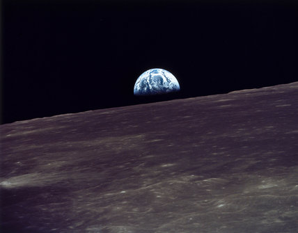 Earthrise over the moon, 1969.