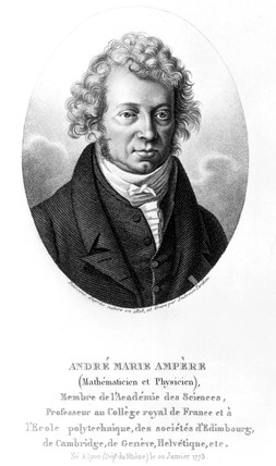 Andre-Marie Ampere, French physicist and mathematician, 1825.