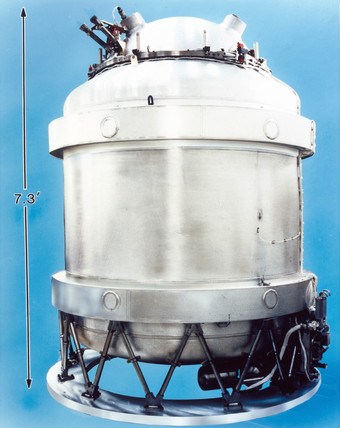Cryostat for COBE satellite, 1989.